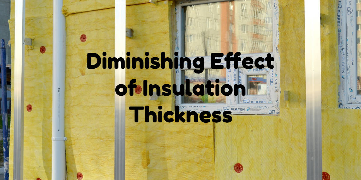 diminishing effect of insulation thickness